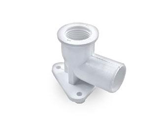 90° Faucet Elbow c/w Bracket